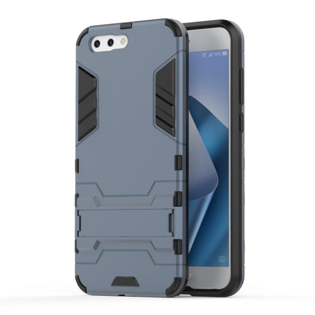 Luxury Kickstand Hybrid 4 Case For Asus Zenfone 4 ZE554KL Cover TPU+PC Protective Fundas With Holder For ZE554KL 5.5inch Case