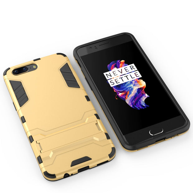 Luxury Kickstand Hybrid Case For One Plus 5 OnePlus5 Cover TPU+PC Protective Fundas With Holder For OnePlus 5 Case