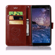 Luxury PU Cover Case For Coque Nokia 7 Plus Phone Case With Card Holder Wallet Flip Case Cover For Nokia 7 Plus Ajax Fundas
