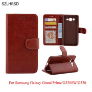 Luxury PU Leather Dirt Resistant Silicon Phone Accessories Bag Wallet Case For Samsung Galaxy Grand Prime G5308W G530 Capa Coque