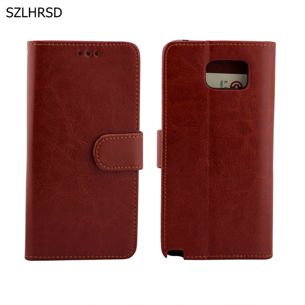 Luxury PU Leather Phone Accessories Bags Wallet Case For Samsung Galaxy Note 5 Note5 N9200 Retro Business Photo Frame Capa Coque