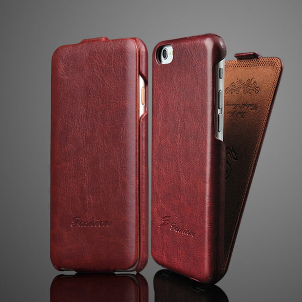 Luxury Vertical Flip Leather Case For