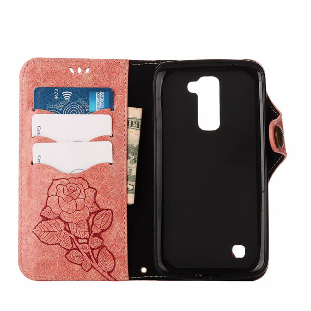 Luxury Phone Silicone Box For LG K 10 Lte K10Lte K410 K420N K430 K430DS Flip Case For LG K10 Lte LGK10 K 410 420N 430 430DS Bags