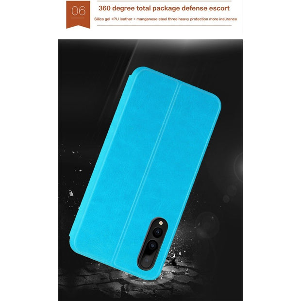 MOFI Flip Case For Huawei P20 Crazy Horse Texture Horizontal Flip Shockproof Protective Leather Case P20 Stand Cover Shell Case
