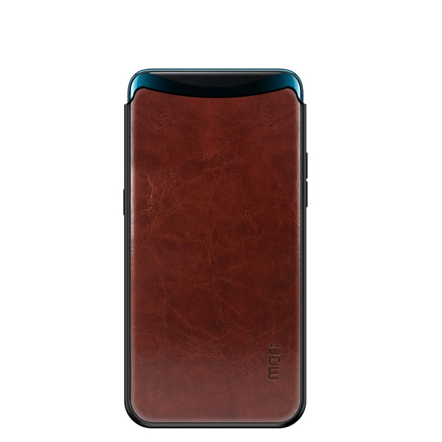 MOFi PU Leather + TPU + PC Case For OPPO Find X Cover Phone Cases Full Protection Back Cover For OPPO Find X Case