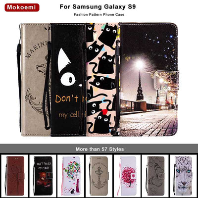 "Mokoemi Fashion Pattern Flip Wallet Leather 5.8""For Samsung Galaxy S9 Case For Samsung Galaxy S9 Cell Phone Case Cover"