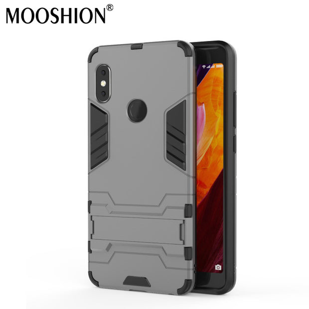 Mooshion Luxury Hybrid Case For Xiaomi Redmi Note 5 Pro Global 5.99inch With Stand Armor Protective Back Cover Phone Shell