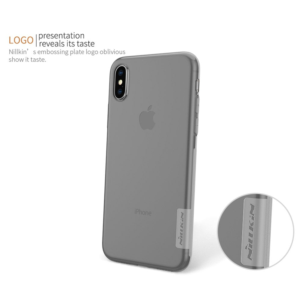 New For IPhone X Cover Case NILLKIN Ultra Thin Slim TPU Case For IPhone X Soft TPU Back Cover For IPhone X 5.8''