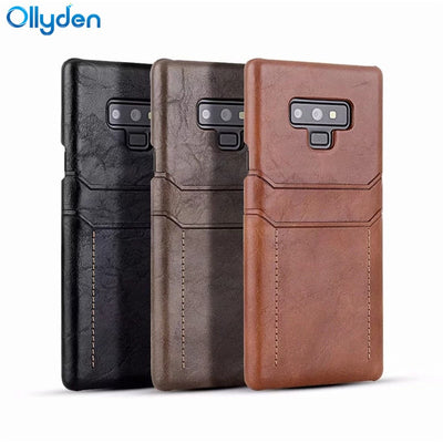Ollyden For Samsung Note 9 Case Wallet Shockproof Business Case For Samsung Galaxy Note 9 Note9 Back Cover With Card Holder Capa