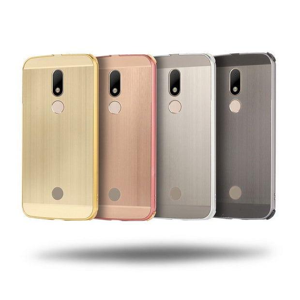 Original Case For Motorola Moto M XT1662 Cover Metal Aluminum Frame Plastic Luxury Cover For Moto M XT1662 Case With Pen