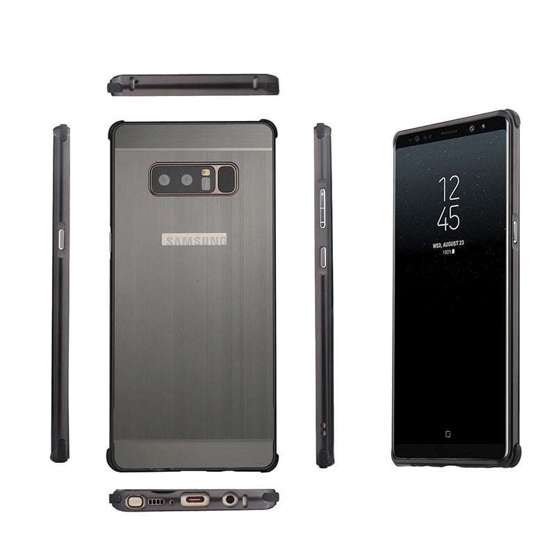 Original Case For Samsung Galaxy Note 8 Case Luxury Metal Aluminum Frame Plastic Cover For Samsung Galaxy NOTE 8 Note8 Case