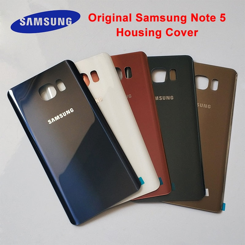 Original For Samsung Galaxy Note5 Note 5 Back Battery Cover Glass Housing Cover For Samsung Note 5 Door Rear Case Replacement