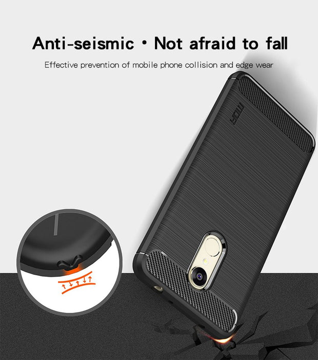 Original MOFI Carbon Fiber Phone Cases For Xiaomi Redmi 5 Case Silicone Soft Fashion TPU Back Cover Xiaomi Redmi 5 Plus Case