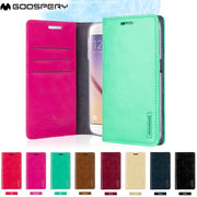 Original Mercury Goospery Blue Moon Flip Wallet Gel Cover Case For IPhone 4 5 5s SE 6 6s 7 8 Plus X Series