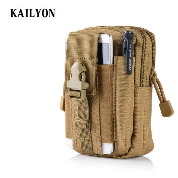 Outdoor Tactical Holster Military Molle Hip Waist Belt Bag Wallet Pouch Purse Zipper For DOOGEE BL5000/ HOMTOM ZOJI Z7/ Z6