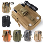 Outdoor Tactical Holster Military Molle Hip Waist Belt Bag Wallet Pouch Purse Zipper Phone Case For Yota Devices YotaPhone 2