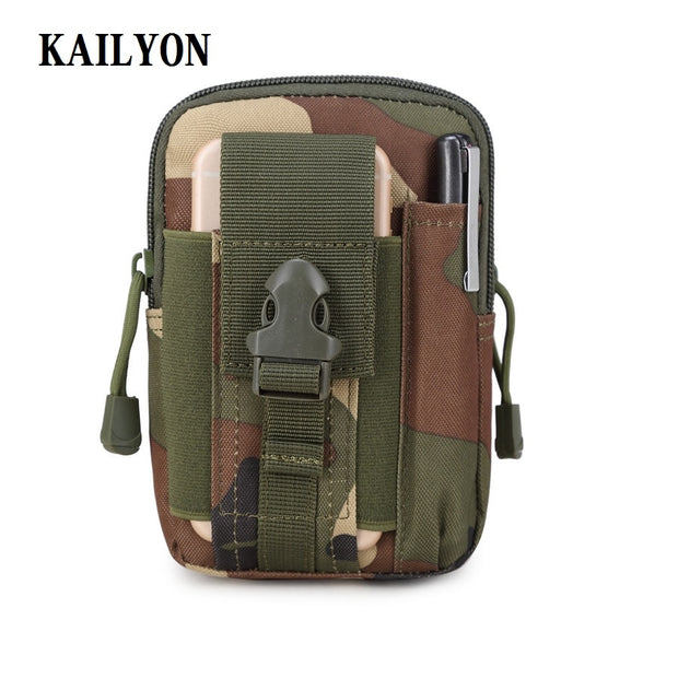 Outdoor Tactical Holster Military Molle Hip Waist Belt Bag Wallet Pouch Purse Zipper Phone Case For Caterpillar Cat S30 Pouch