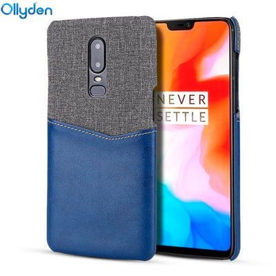 PU Leather Back Cover For Oneplus 6T Case Wallet Card Holder Hard Phone Cases For Oneplus 6 T 6T Case Protective Shell