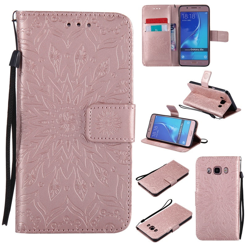 PU Leather Case For Samsung Galaxy J5 Case Coque Samsung J5 2016 Case Phone Holder TPU For Samsung Galaxy J5 2016 Back Cover