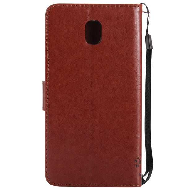 PU Leather Cover For Samsung Galaxy J5 2017 Phone Holder Case Wallet Flip Stand Funda For Samsung J5 2017 Case 360 Full Protect