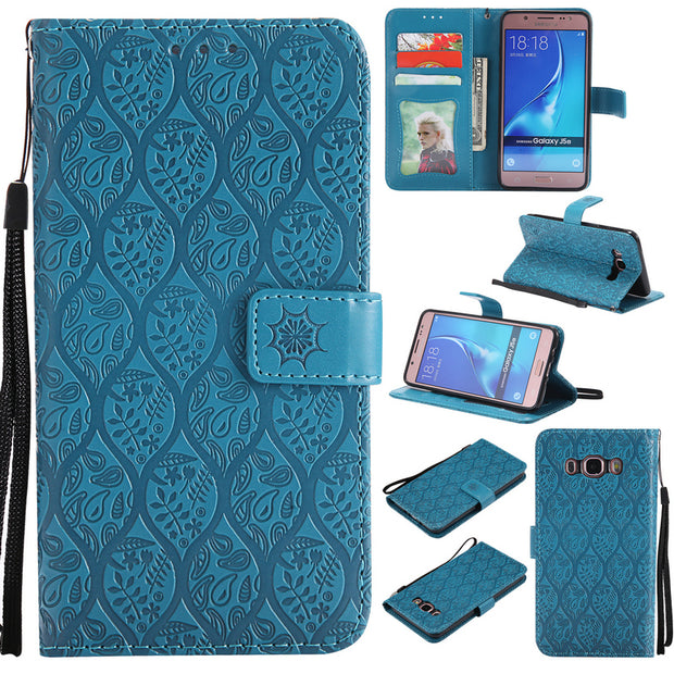 PU Leather Wallet Case For Samsung Galaxy J5 2016 Case Phone Holder Flip Card Slot Cover For Coque Samsung J5 2016 Case J510
