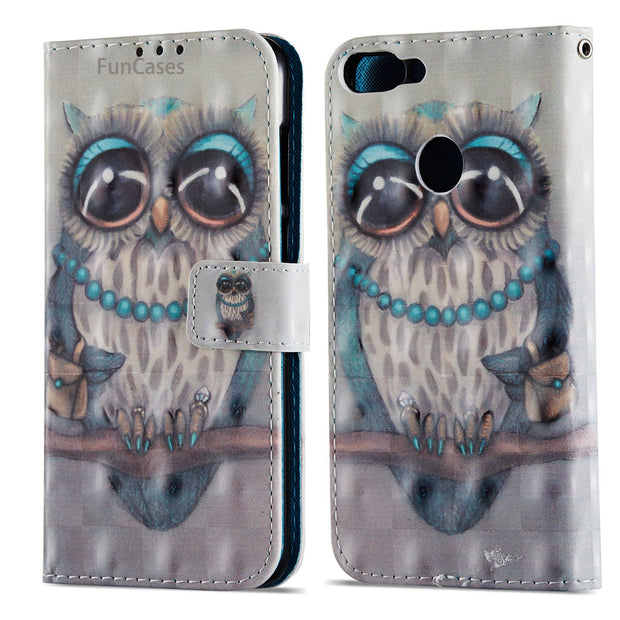 Painted Dreamcatcher Flip Phone Case SFor Coverage Huawei Enjoy 7S Bracket Case Cover Patterned Phone Case Huawei Ascend P Smart