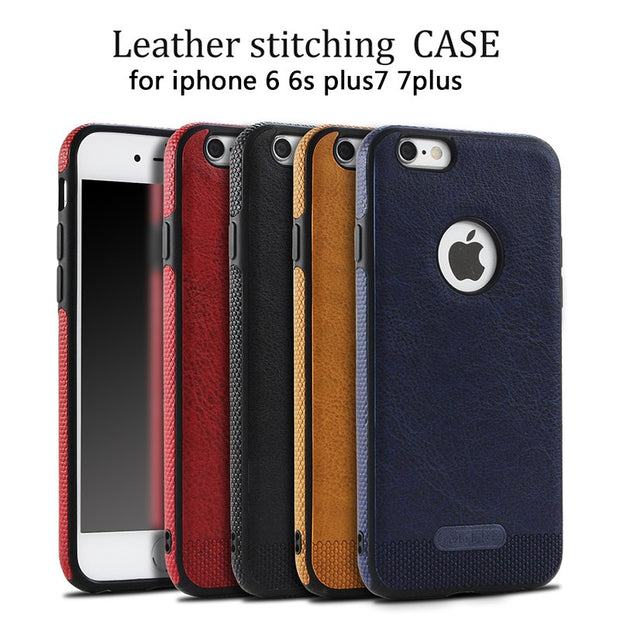 Phone Case For Apple Iphone 8 Case Luxury Leather Soft Protective Case For IPhone 6 6s 6plus Cover For IPhone 7 7plus Back Cover