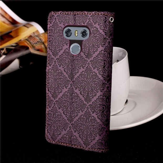 Phone Case For Fundas LG G6 Case Luxury Leather Flip Magnetic Wallet Card Cover Coque For LG G6 G 6 Case Cover Capa 5.7""