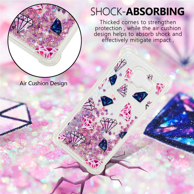 Phone Case On For SAMSUNG Galaxy A3 2016 SM-A310F /DS Glitter Quicksand Soft Silicone Cover For A3 2016 Cases Shine Full Housing