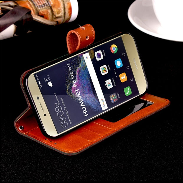 Phone Etui For Coque Huawei P8 Lite 2017 Case Leather Wallet Flip Cover For Huwawei Honor 8 Lite Nova Lite Capinha Hawei Huawey