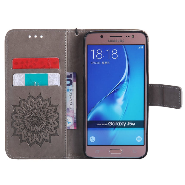 Phone Holder Flip Cover For Samsung Galaxy J5 2016 Back Case TPU Soft Case Funda For Samsung Galaxy J5 (2016) J510 Case Coque