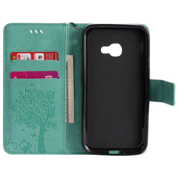 Phone Holder Wallet Cover For Samsung Galaxy Xcover 4 Case Coque Samsung Xcover 4 Silicone Case Flip Housing For Samsung Xcover4