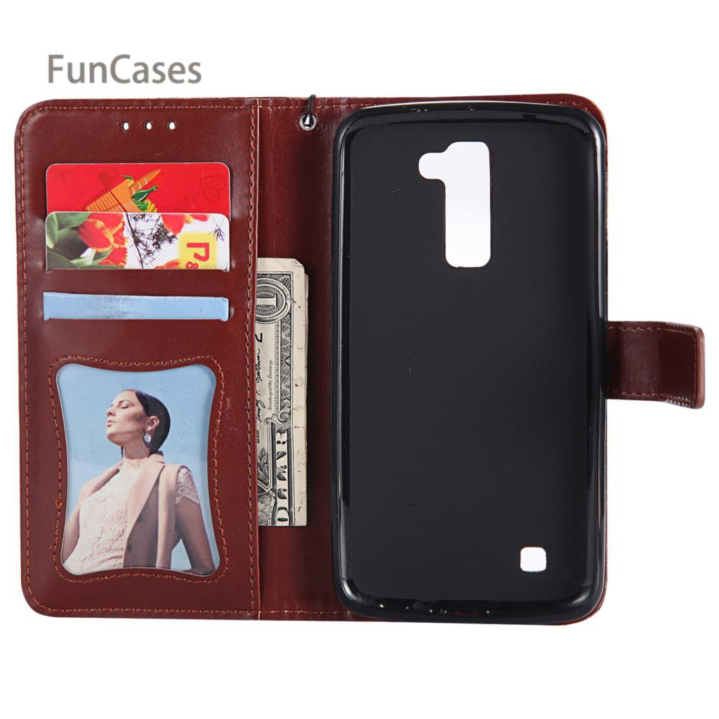 Plain Vine Flip Case SFor Aksesuar LG K10 PU Leather Back Cover Funda Marble Holsters Clips Case SFor LG K10 Silicone Case Ultra
