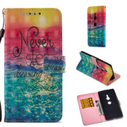 Pretty Wind Bell Flip Phone Case SFor Etui Sony XZ2 Soft Silicone Phone Case Capinhas Floral Half Wrapped Case Sony Xperia XZ2