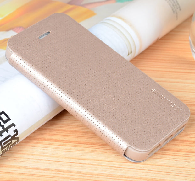 SLIM! XCLUSIVE High Quality! Genuine PU Leather Flip Case Wallet Cover For Apple IPhone 5 & 5S & 5SE