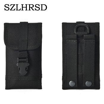 SZLHRSD For Honor View 10 Case Outdoor MOLLE Army Camo Camouflage Bag Hook Loop Belt Pouch For Vernee Active /Leagoo T5c