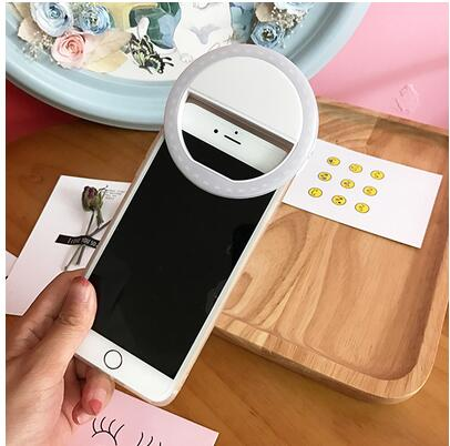 Selfie Ring Mirror Makeup Case For Sony Xperia Z5 Compact Premium Xperia C3  E3 M2 LED Light Flash UP Android Mobile Phone Cover