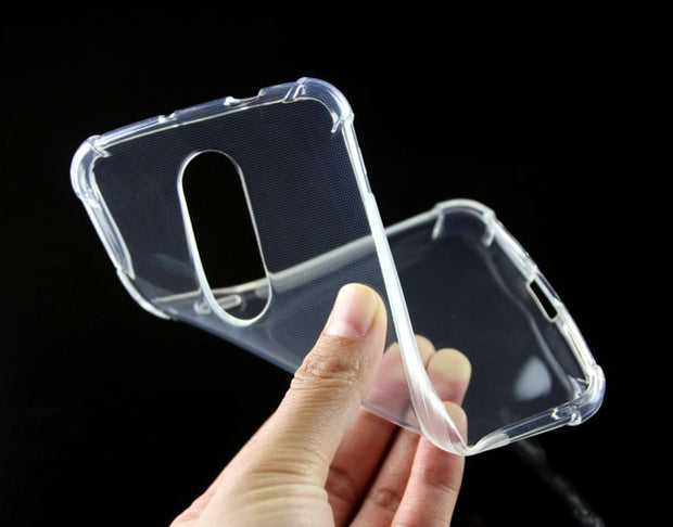 Shockproof Anti-skid TPU Gel Skin Soft Case Cover With Gasbag For Motorola Moto M