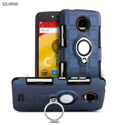 Shockproof Case For Motorola Moto C Plus Case Cover Funda Robot Hybrid Hard Back Cover For Moto C+ XT1723 Phone Cases