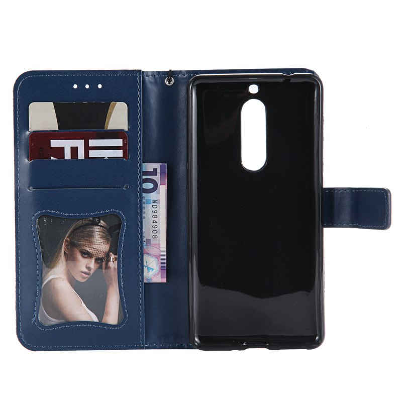 Shockproof Case For Nokia 5 Case PU Leather 3D Embossing Wallet Flip Phone Holder Card Slot Case For Nokia 5 Back Cover Nokia5
