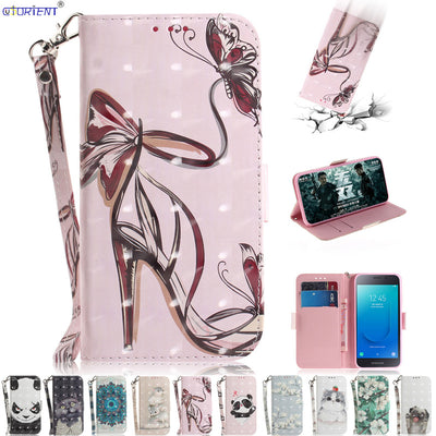 Stand Flip Cover For Samsung Galaxy J2 Core J260 PU Leather Wallet Phone Case SM-J260F/DS SM-J260F Bumper Case SM J260F/DS J260F