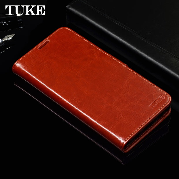 TUKE Leather Wallet Case For OPPO F7 Phone Case Soft Silicone Back Cover Flip Book Case For OPPO F7 Business Case