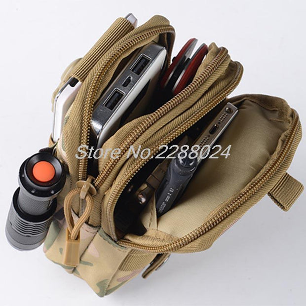 Tactical Waist Bag Mobile Phone Pouch Pack Sport Mini Vice Pocket For ZTE Grand S3 C880S Blade Z7 X9 X7 D6 X5 D3 X3 D2 A452