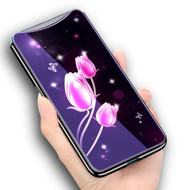 Tempered Glass Case For OPPO Find X FindX Cover 6.42'' Beautiful Pattern Glass Cover For OPPO Find X Fundas