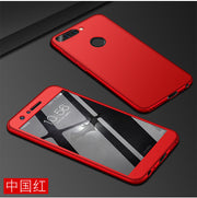 Tempered Glass+PC Hard Matte Cases For Huawei Honor 8 Pro Case 360 Degree Full Cover Plastic Phone Case For Huawei Honor 8 Pro