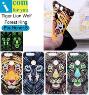 Tiger Lion Wolf Cover Case For Huawei Honor 8 Forest King Light Glow In The Dark Night Luminous