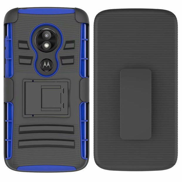 UYFRATE 3in1 Hybrid Belt Clip Holster Cover Kickstand Armor Case Funda For Motorola Moto E5 Play G6 Play