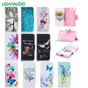 Udapakoo For Sony Xperia XA1 PLUS XZ1 Compsct XZ Premium Luxury Flip PU Leather Cover Magnetic Fundas Holder Stand Phone Case