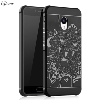 Uftemr Ultra Thin Case Cover For Meizu M5 Cases 2017 Soft 3D Silicone Covers For Meizu M5S M5 Note Case Capa Coque