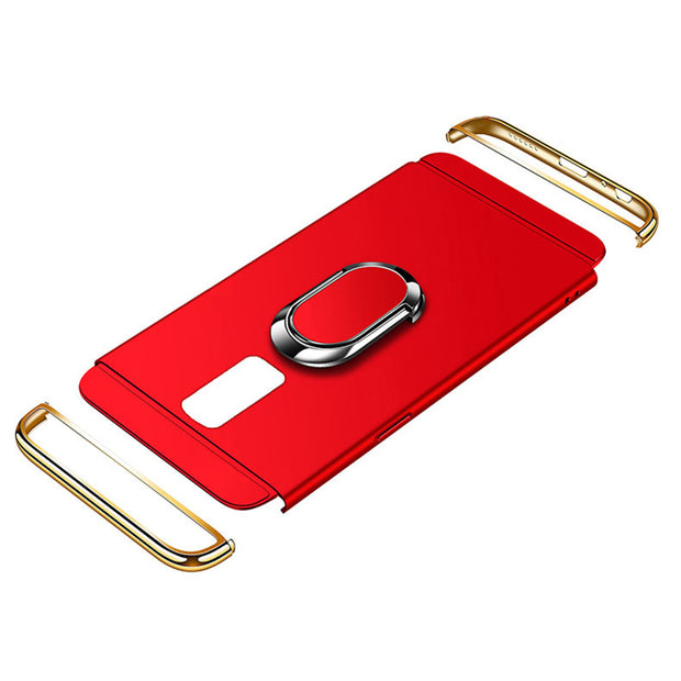 Ultra-thin Phone Case For Samsung Note 9 8 S7 Edge Full Case For Samsung Galaxy S8 S9 Plus With Finger Ring Kickstand AB173